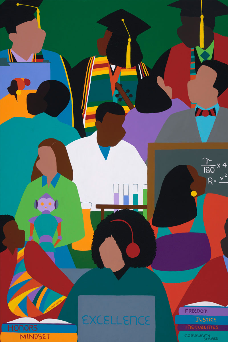 "ART TODAY 021318 ""Honors Mindset"" – A commemoration to Historical Black Colleges by Synthia SAINT JAMES"