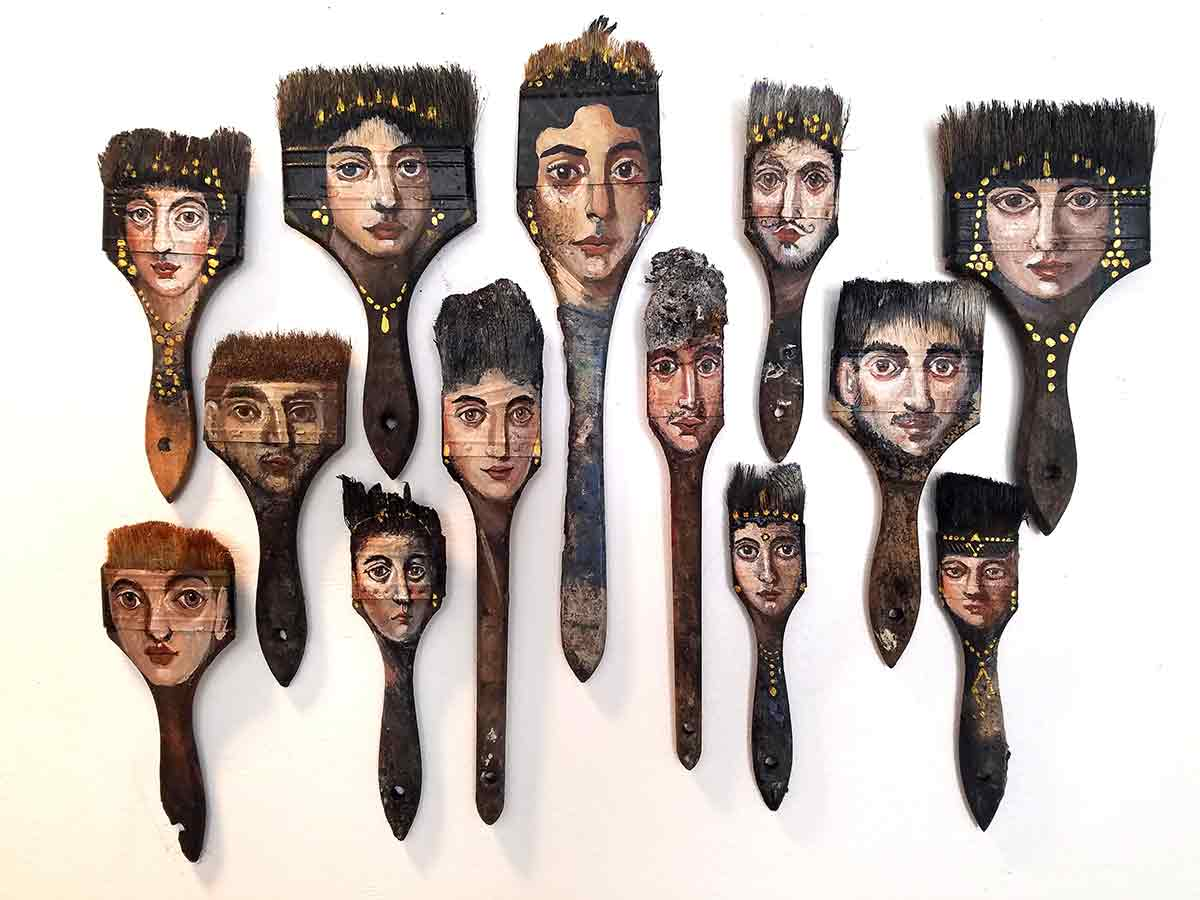 ART TODAY 021018 The burned brushes that enhanced a legend for Alexandra Dillon: FAB Gallery's PalimpsestVenice (watch the video)
